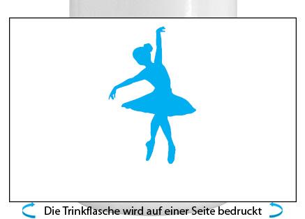 Ballett Alu-Trinkflasche mit Schraubverschluss, 500ml türkis