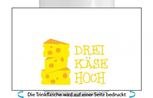 3 Käse Hoch Alu-Trinkflasche mit Schraubverschluss gelb