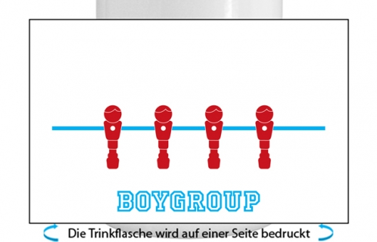 Boygroup Alu-Trinkflasche mit Schraubverschluss türkis