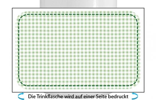 Kleinkariert Jungen Alu-Trinkflasche mit Schraubverschluss, 500ml grün
