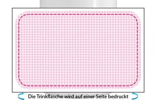Kleinkariert Mädchen Alu-Trinkflasche mit Schraubverschluss rosa