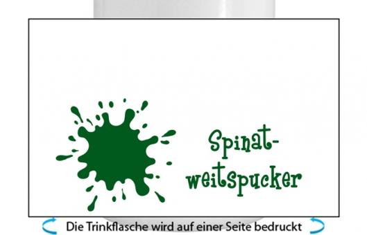 Spinatweitspucker Alu-Trinkflasche mit Schraubverschluss dunkelgrün