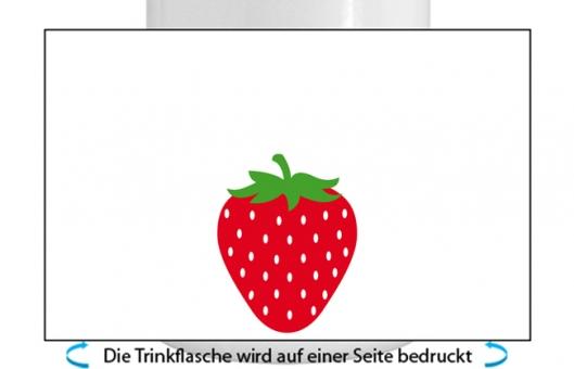 Erdbeere Alu-Trinkflasche mit Kinderverschluss, 500ml rot
