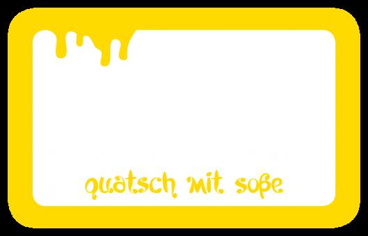 Quatsch mit Soße Alu-Trinkflasche mit Schraubverschluss, 500ml gelb