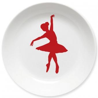 Ballett Kleiner Teller (dunkelrot)