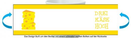 3 Käse Hoch Becher gelb