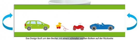Autos Becher hellgrün