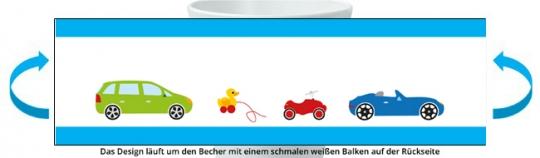 Autos Becher türkis