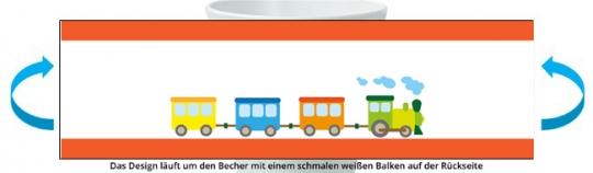 Eisenbahn Becher orange