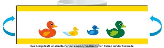 Entenfamilie Becher gelb