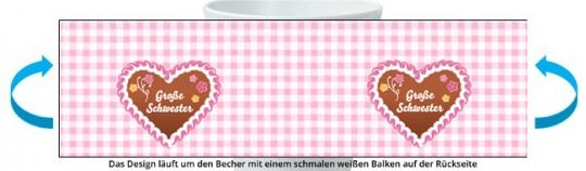 Große Schwester Becher rosa