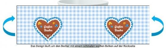 Großer Bruder Becher hellblau