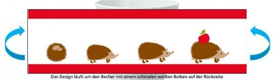 Igelfamilie Becher rot