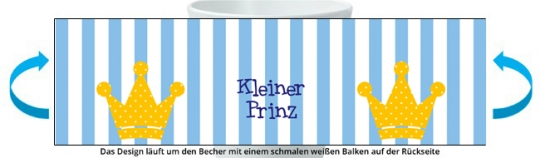 Prinz Becher hellblau