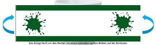 Spinatweitspucker Becher dunkelgrün