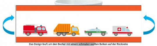 Tatütata Becher orange