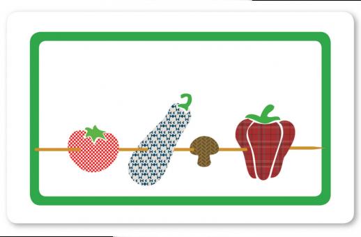 Gemüse-Spießerin Brettchen dunkelgrün