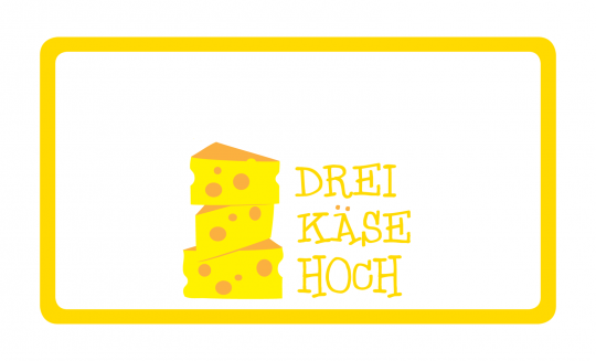 3 Käse Hoch Brettchen gelb