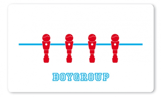 Boygroup Brettchen türkis