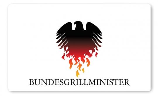 Bundesgrillminister Brettchen bunt