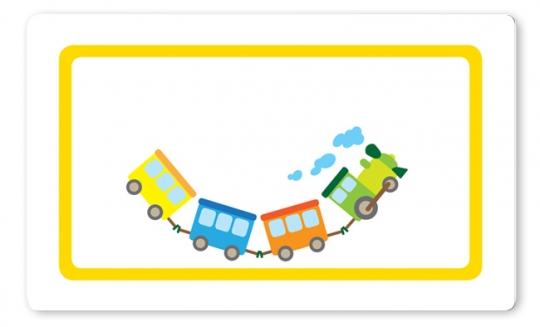 Eisenbahn Brettchen gelb