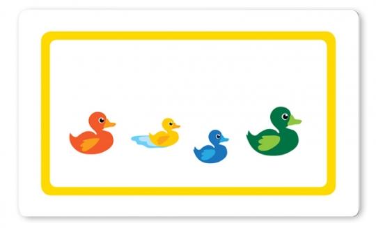 Entenfamilie Brettchen gelb