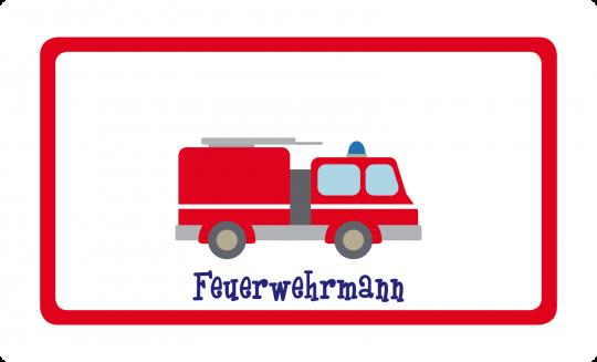 Feuerwehr Brettchen rot