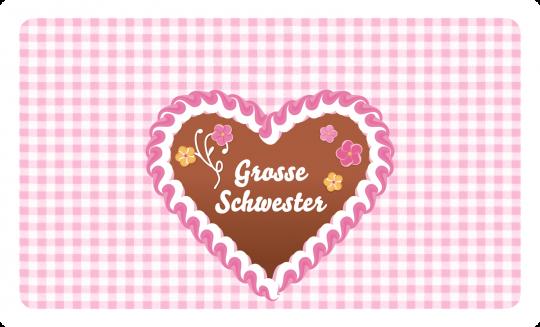 Große Schwester Brettchen rosa