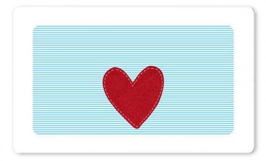 Herz Jungen Brettchen hellblau