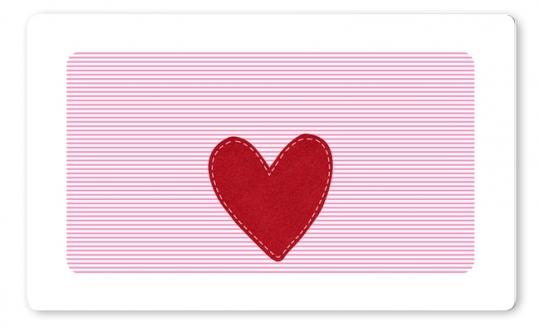 Herz Mädchen Brettchen rosa