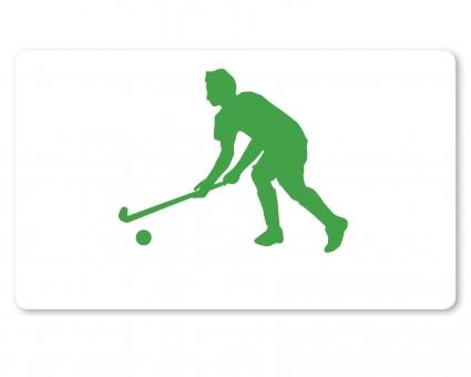 Hockey Spieler Brettchen grün