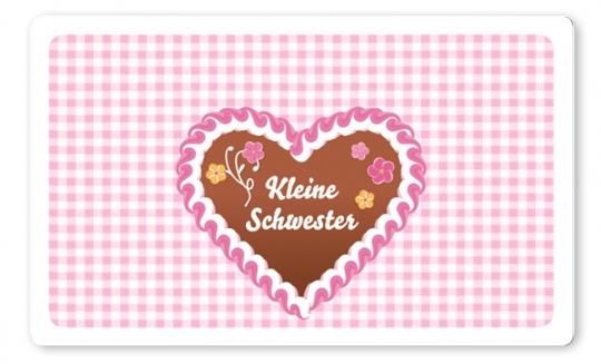 Kleine Schwester Brettchen rosa