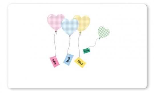 Luftballons Brettchen pink