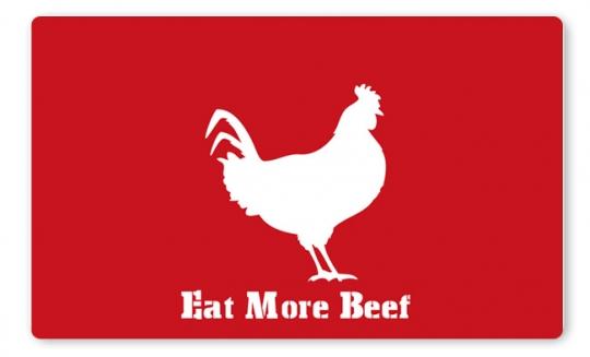 More Beef Brettchen dunkelrot