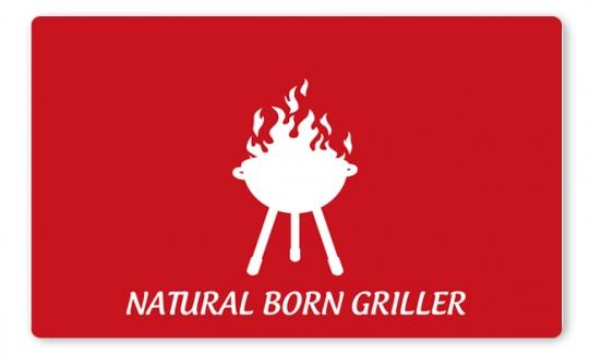 Natural Born Griller Brettchen dunkelrot