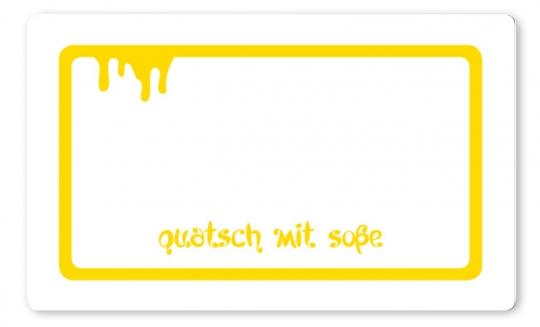 Quatsch mit Soße Brettchen gelb