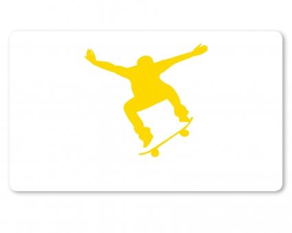Skateboard Brettchen gelb