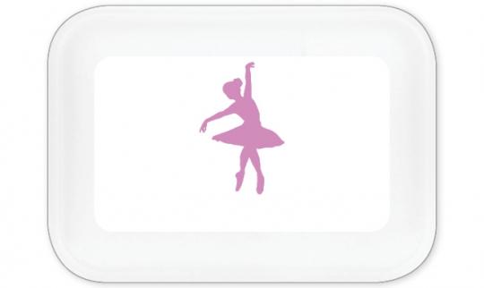 Ballett Brotdose groß flieder