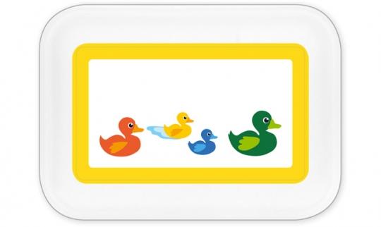 Entenfamilie Brotdose groß gelb
