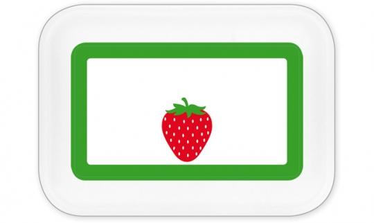 Erdbeere Brotdose groß grün