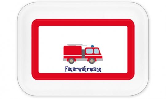 Feuerwehr Brotdose groß rot