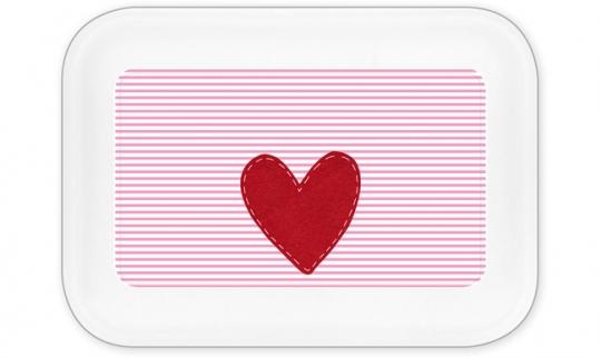 Herz Mädchen Brotdose groß rosa