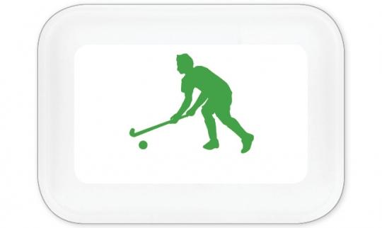 Hockey Spieler Brotdose groß grün