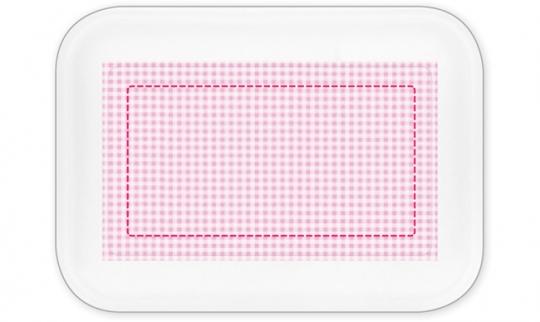 Kleinkariert Mädchen Brotdose groß rosa