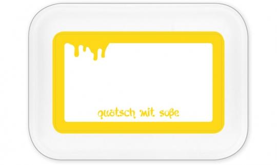 Quatsch mit Soße Brotdose groß gelb