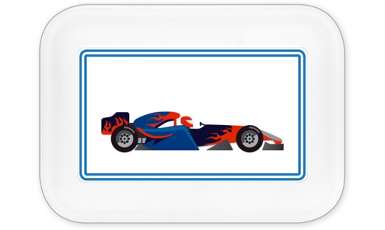 Racing Brotdose groß dunkelblau