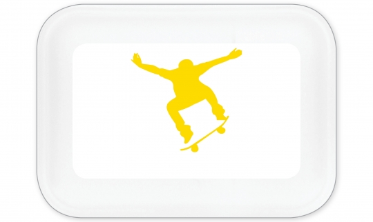 Skateboard Brotdose groß gelb