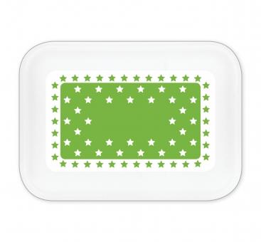 Sternchen Brotdose groß hellgrün