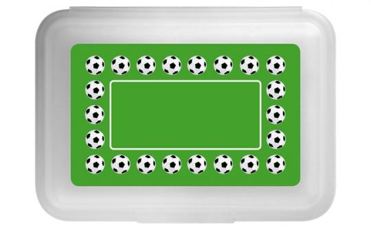 Fußball Flache Brotdose grün