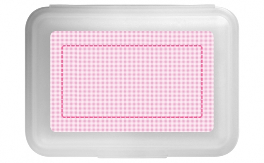 Kleinkariert Mädchen Flache Brotdose rosa